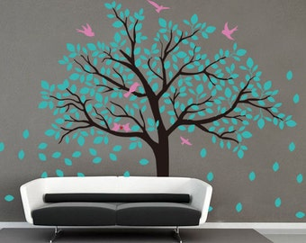 stickers arbre etsy fr. Black Bedroom Furniture Sets. Home Design Ideas