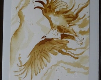 Eagle coffee painting