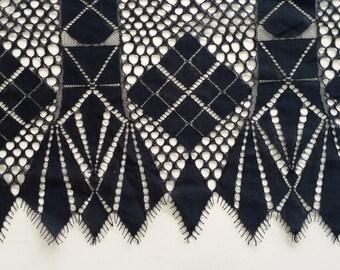 Lace fabric Black color, Wedding lace, Gorgeous black chantilly lace fabric