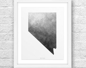 Nevada Map, Nevada Print, Nevada Art, Nevada State, Nevada Design, Minimalist Art, Nevada Printable,Instant Download, Nevada Modern Art