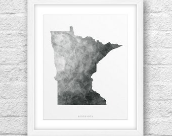 Minnesota Map, Minnesota Print, Minnesota Art, Minnesota State, Minnesota MinimalDesign, Minimalist Art, MinnesotaPrintable,InstantDownload,