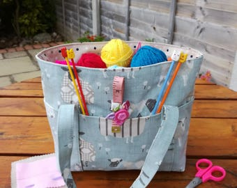 Starter Knitting Bag. Craft Bag. Bag