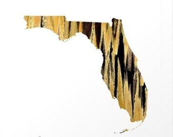 Florida Print - Black and Gold