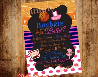 Basketball Gender Reveal Party Etsy