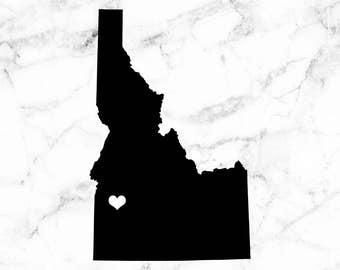 Idaho decal, Idaho home sticker, Home sweet home decals, I heart Idaho, car decal