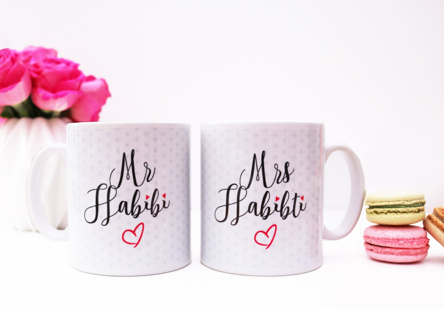 Muslim Wedding Gift Ideas: Mr Habibi & Mrs Habibiti Mugs Islamic Wedding Gift Set