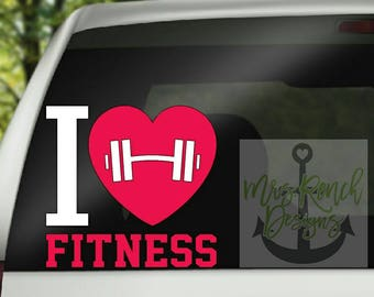 I love Fitness Decal/Strong Woman/Fit Woman/Women Workout