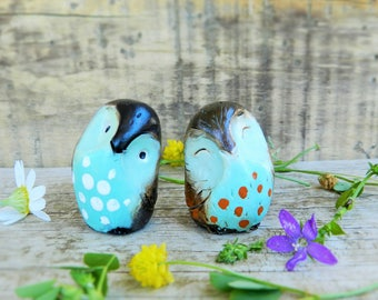 owl polymer clay collectible owl figurines