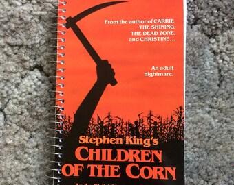 Handmade Children of the corn VHS spiral notebook