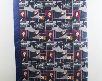 Only Two Left! Quilted Harry Potter Comforter / Harry Potter Blanket / Harry Potter Bedding