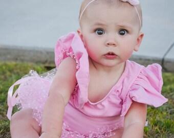 Mini Baby Tutu - Pink Polka Dot