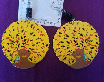 Colorful Afro Earrings
