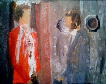 Fight Club: oil on canvas 16x20 PRINT