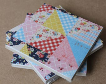 patchwork colourful coasters, set of 4