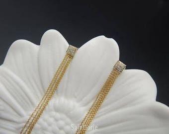 0.16 Carat Diamond Drop Earrings