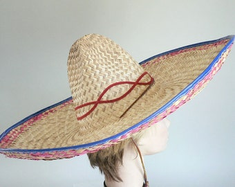 Mexican Sombrero Hat With Chin Tie
