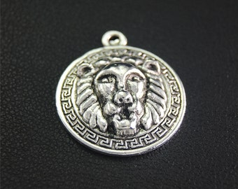 30pcs Antique Silver  Lion King Head Charms Pendant A2055
