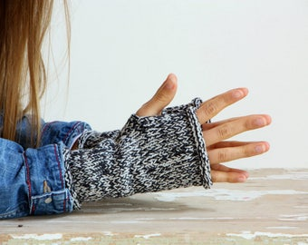 mittens, knitted mittens, fingerless mittens, gray gloves, knitted gloves, handmade mittens