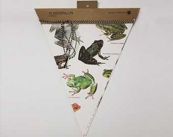 Flag line animals made of old books