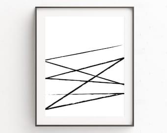 Wall Art Decorating, Large Abstract Decor, Affiche Abstract, Extra Large Art, Dorm Decorating, Art Print, Geometric Poster, Scandinavian Art