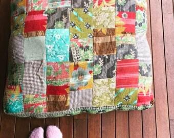 Large Kantha floor cushions, dog beds , meditation cushion, vintage kantha