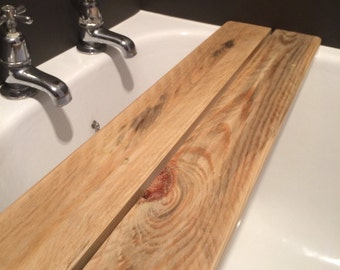 Reclaimed Wood Bath Tray Shelf Caddy - *In stock and ready to ship!