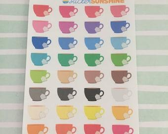 Mini Tea Cup Stickers