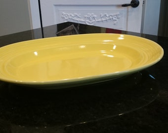 Vintage Yellow Platter/ Carnavale Pattern/ Signature Housewares Incorporated/ Made in Japan