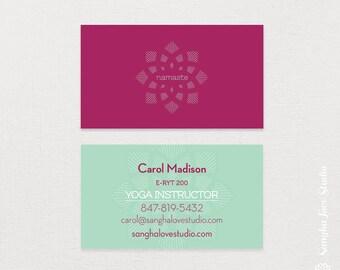 Yoga business card Etsy