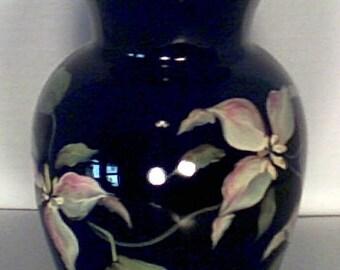 Fenton Handpainted Vase w/Signatures