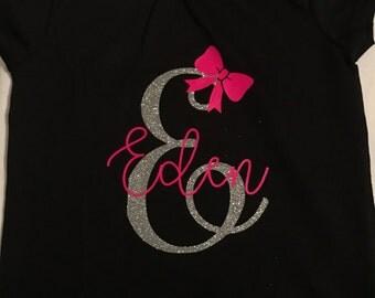 Glitter Full Name Monogram Shirt