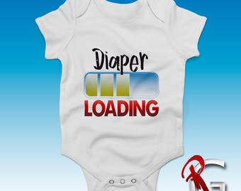 Diaper Loading Bodysuit - Funny Baby One Suit