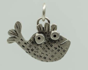 Sterling Silver Fish Pendant - Animal Necklace