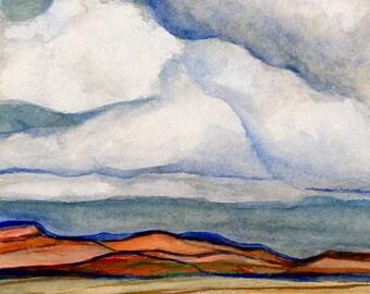 Original Utah Watercolor Painting, Arizona Painting, Utah Plein Air Painting   8 x 6 inches