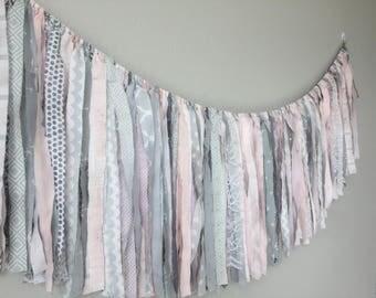 pink grey chloe garland // nursery garland // backdrop garland // nursery decor //  garland ready to ship//  baby shower