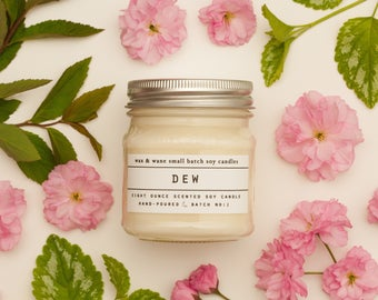 Dew Soy Candle - Desert Rain Candle Rain Candle Rain Soy Candle Natural Soy Candle Cute Gift Idea