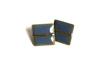 Purple and Gold earrings // Retro //Vintage Earrings