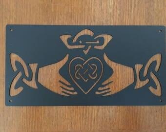 Claddagh Steel Sign (Irish)