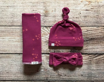 Baby swaddle / swaddles / swaddle blanket / purple swaddle blanket / coming home blanket / newborn swaddle / baby girl blanket