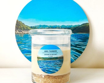Abel Tasman Soy Candle | CARAMEL & SEA SALT | 450 mls