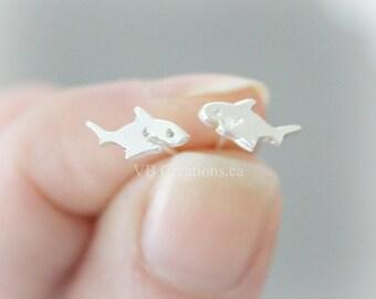 Shark Earrings - Shark Jewelry - Tiny Earrings - Dainty Earrings - Jaws Earrings - Jaws - Gift Ideas - Sister Gift - Gift for her - Mother