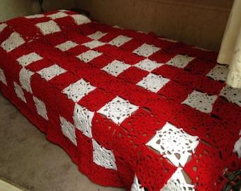 King sized crocheted blanket
