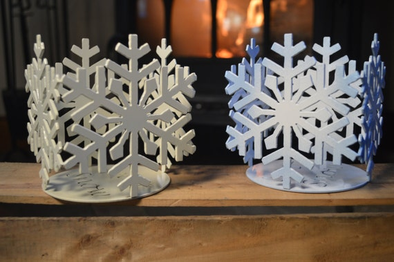 Snowflake Votive Candle Holder