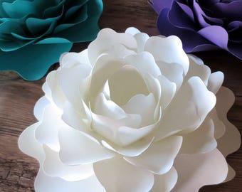 Oversized Paper Peonies - Large Wedding Flowers - Table Centerpiece - Baby Shower - Wedding Decor - Flower Backdrop - Photo Prop