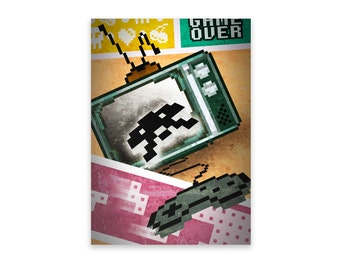Notepad - Retro Gamer,  Notepad, Stationery, Recycled Paper, Lined Writing, Retro Digitally Illustrated