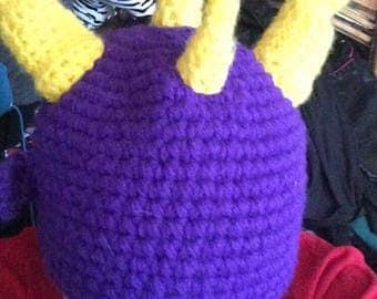 Handmade Spyro the Dragon Crochet Hat