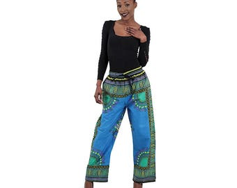 Traditional Loose Print Pants