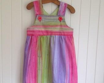 Girls  Summer Dress 100% soft batik cotton