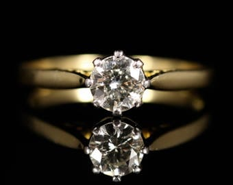 Diamond Solitaire Engagement Ring 18ct Gold