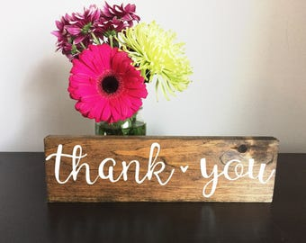 Thank You Rustic Wood Sign
